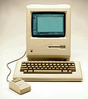 My first generation Mac circa, 1985.